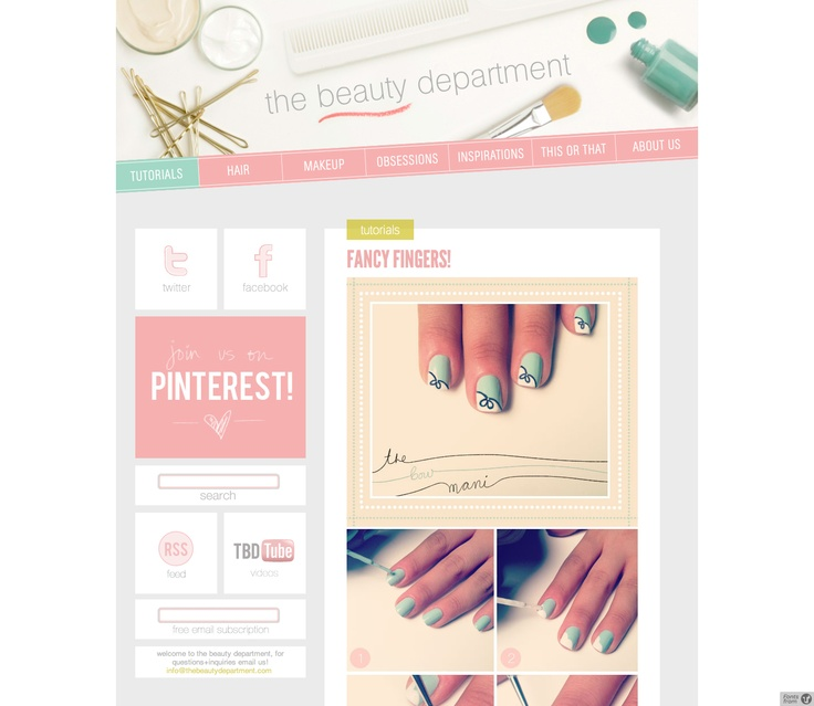 1000+ images about GIRLY WEB DESIGN on Pinterest | Responsive site ...