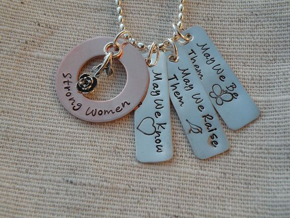 Strong Women Inspirational Quote Necklace by FireweedImpressions, $49.00