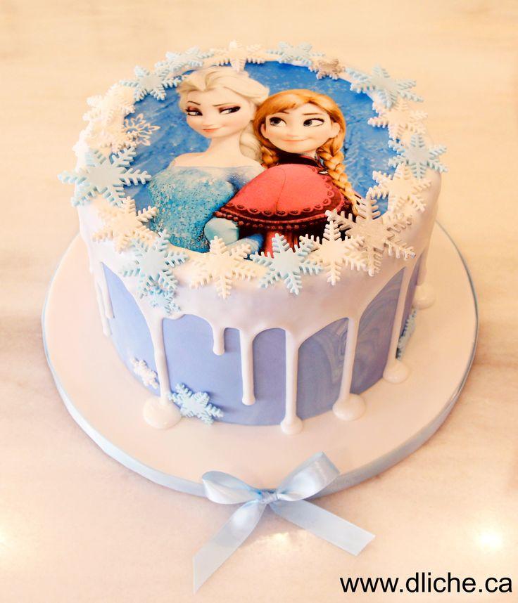 Gâteau Anna & Elsa!  Anna & Elsa cake!