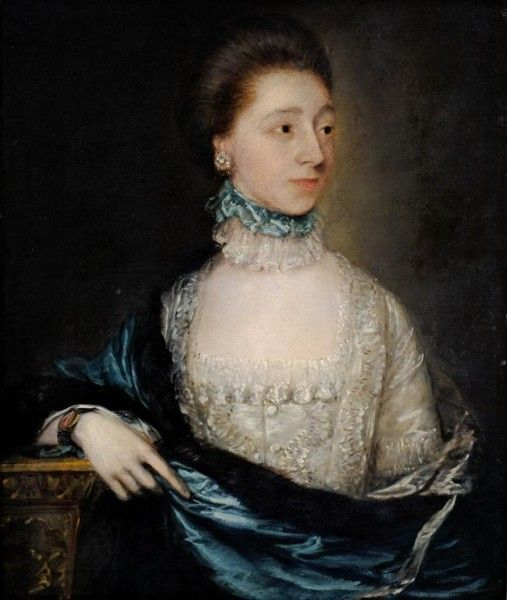Thomas Gainsborough, Unknown lady with a blue cloak, c1765