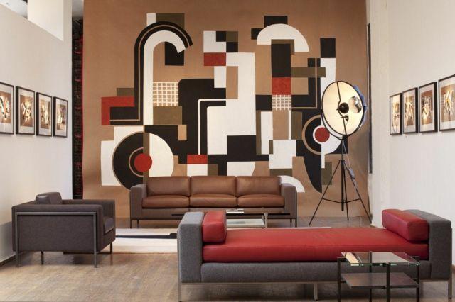 Wandfarbe Braun \u2013 31 Wohnzimmer Ideen Pinterest