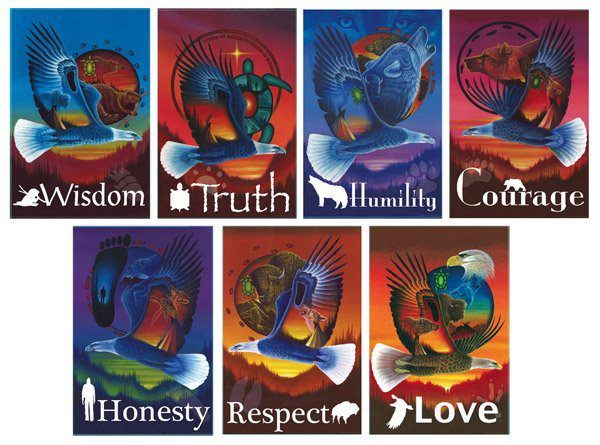 ~THE 7 SACRED TEACHINGS~   ~Buffalo-RESPECT~  ~Eagle-LOVE~  ~Bear-COURAGE~  ~Sabe (Bigfoot)-HONESTY~  ~Beaver-WISDOM~  ~Wolf-HUMILITY~  ~Turtle-TRUTH~  ~Always seek truth, living the truth is    living the Seven Teachings.