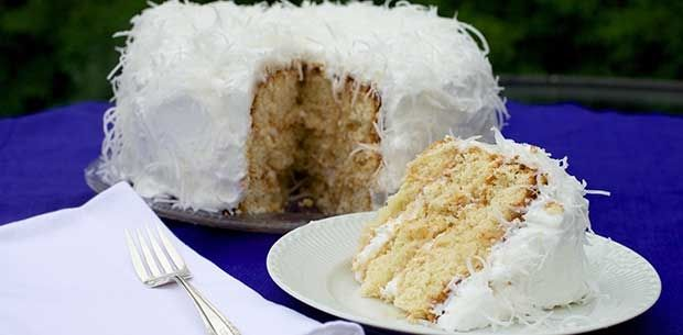 Whip up this soft, creamy coconut cake to serve for dessert or afternoon tea.