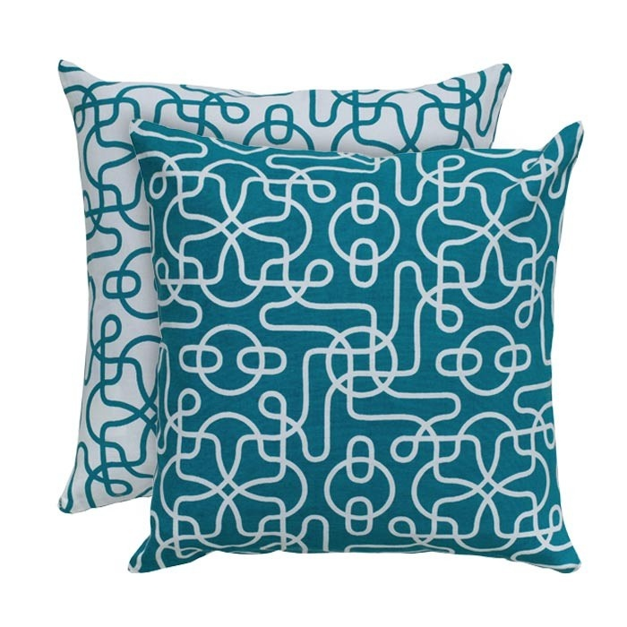 Maze Pillow (set of 2) in Teal
