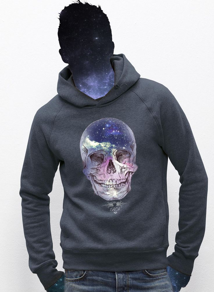 The Galaxy Kid men hoodie  / eco / organic cotton / fair trade / clothing with attitude