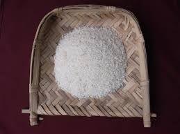 rice on a flat basket