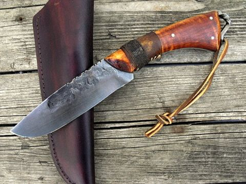 hand forged period frontier hunter knife