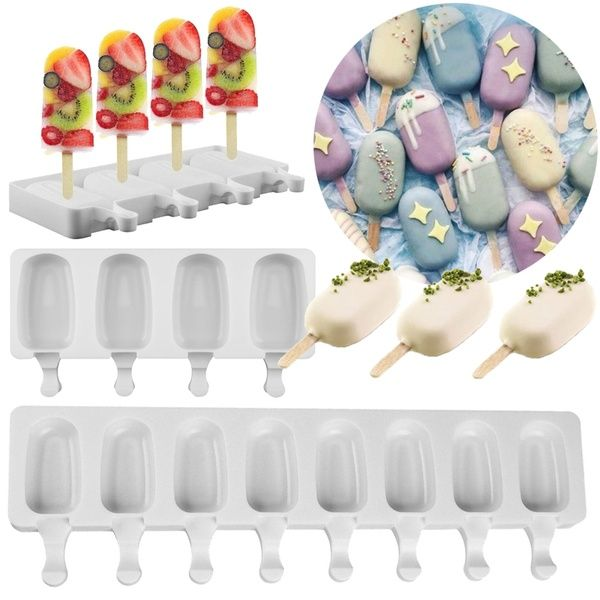 Silicone Frozen Ice Cream Mold Juice Popsicle Maker Ice Lolly Mould DIY Homemade
