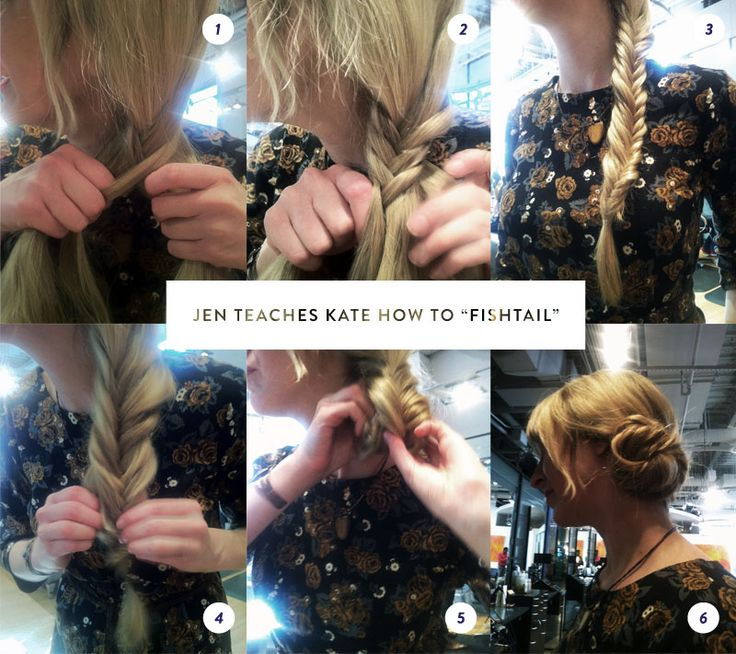 easy instructions on how to make a fishtail braid