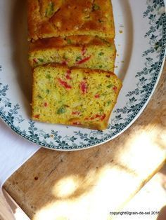 Paprika Maismehl Käse Brot Cake au Maïs et Poivrons