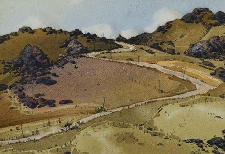 Colin Wheeler 'A Central Otago Road'   1949