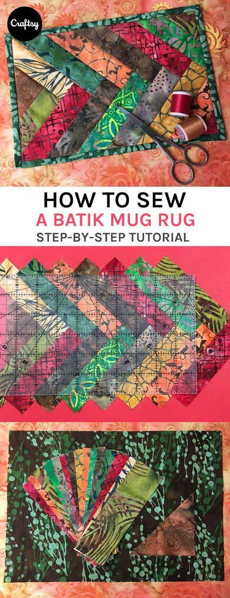 This batik mug rug from Diane Knott uses up a charm square in a chic (but simple to sew) braid. https://www.craftsy.com/blog/2016/11/batik-braid-mug-rug/?cr_linkid=Pinterest_Quilt_OP_BLOG_BlogRefer&cr_maid=90027&regMessageId=7&cr_source=Pinterest&cr_medium=Social%20Engagement