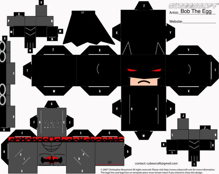 Flashpoint Batman Cubee by BobTheEgg.deviantart.com on @deviantART