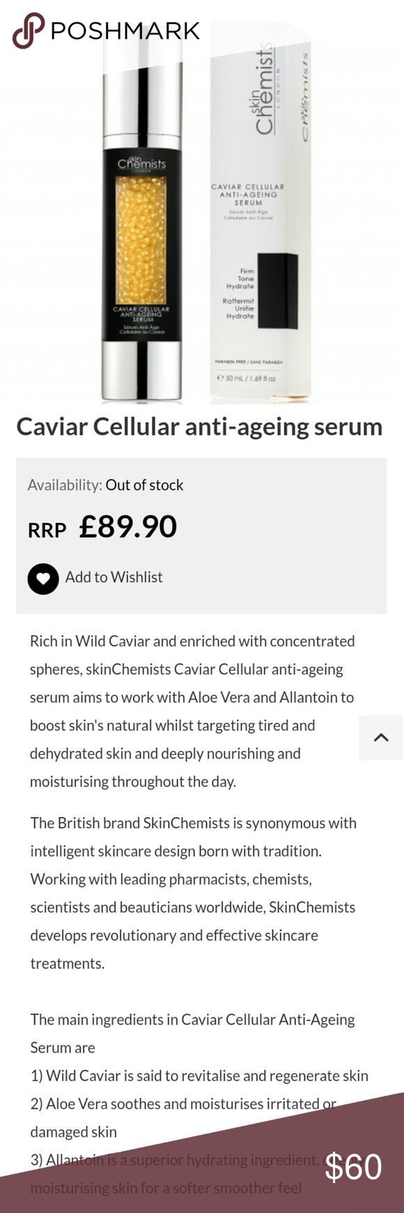 Caviar Cellular Anti-ageing Serum I used this maybe twice, however, I no longer need it because I am using other products at the moment. You can see that this is full. I will price accordingly since I have technically used it.  Use this product if you have dry skin? Use this product if you are concerned about fine lines and wrinkles Use this product if you are concerned about damaged skin Use this product if you have sensitive skin Use this product for increased radiance? Use this product…