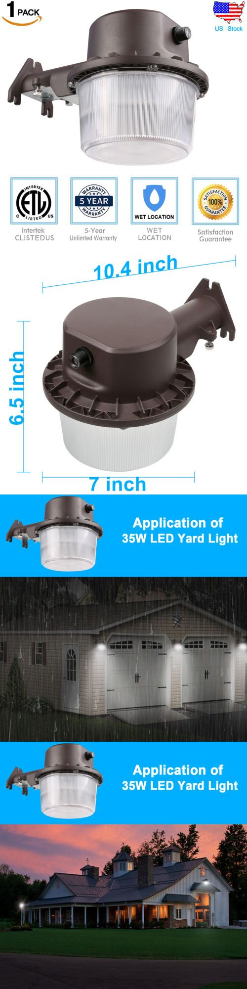 Outdoor Security and Floodlights 183393: Outdoor 35W Led Wall Mount Area Security Light Dusk To Dawn 300W Equivalent -> BUY IT NOW ONLY: $39.99 on eBay!
