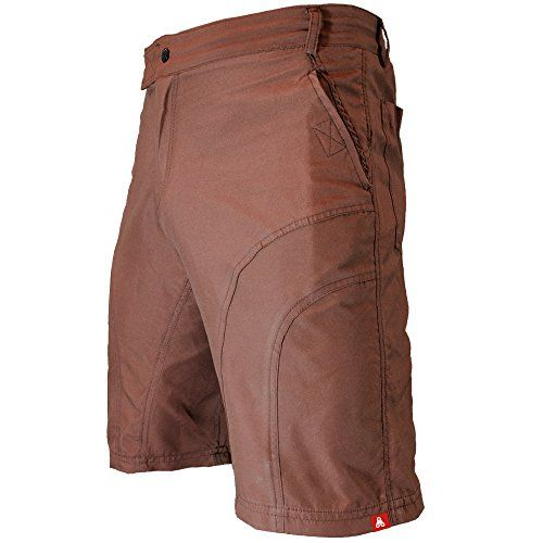 The Pub Crawler - Men's Loose-Fit Bike Shorts For Commuter Cycling or Mountain Biking, With Secure Pockets (Large, Brown - Without Padded Undershorts).