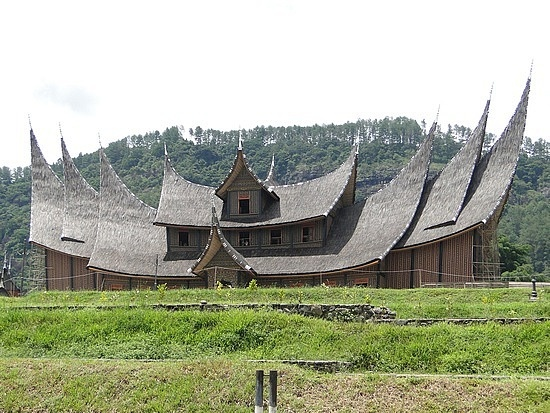 Rumah Gadang, traditional house of West Sumatra, with its uniqueness