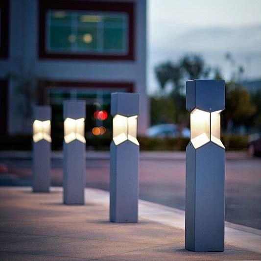 Knight Bollard. File under: pure and simple in form with a crisp geometric design.