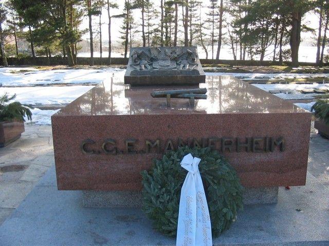 Grave of the former Finnish President C.G.E. Mannerheim in Hietaniemi Cemetery in Helsinki,