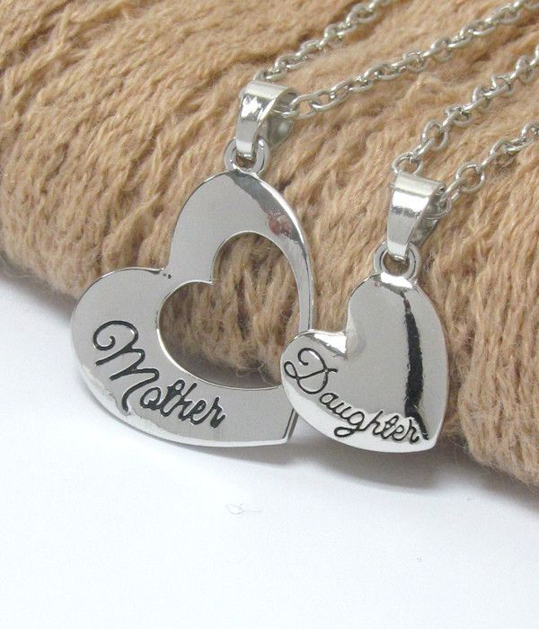Mother Daughter Necklace Set