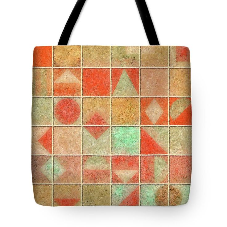 Geometric Tote Bag featuring the painting Geometric Pastel by Grigorios Moraitis