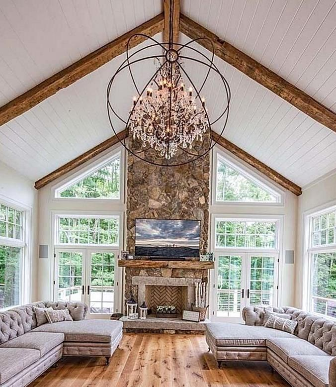 Whats The First Thing That Comes To Your Mind When You Hear Vaulted Ceiling Cathedral Chur Vaulted Ceiling Living Room Types Of Ceilings Farm House Living Room