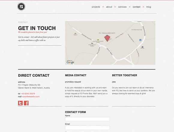 23 Inspiring Examples of Contact Pages | Inspiration