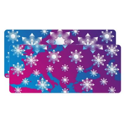 Map of Europe and snowflakes - images abstract Card - invitations custom unique diy personalize occasions