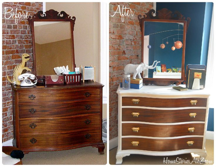 Two Toned Dresser Makeover