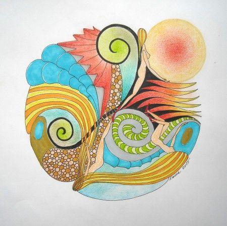 """Mandalala No.150, """"DIFFERENT """", 2015, 30 x 30 cm"""