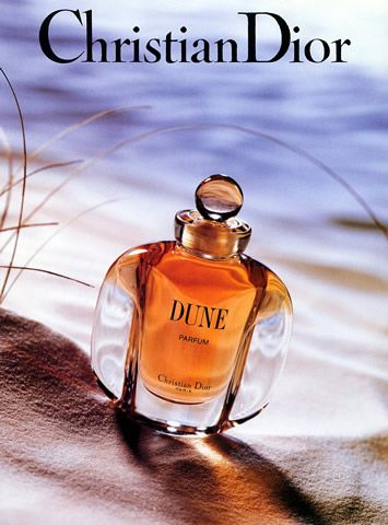 Christian Dior Dune--one of my favorites.  Its top notes include bergamot, mandarin, palisander, aldehyde, peony and broom. Its heart notes include jasmine, rose, ylang-ylang, lily, wallflower, lichen.  Base notes include vanilla, patchouli, benzoin, sandalwood, amber, oakmoss, and musk.
