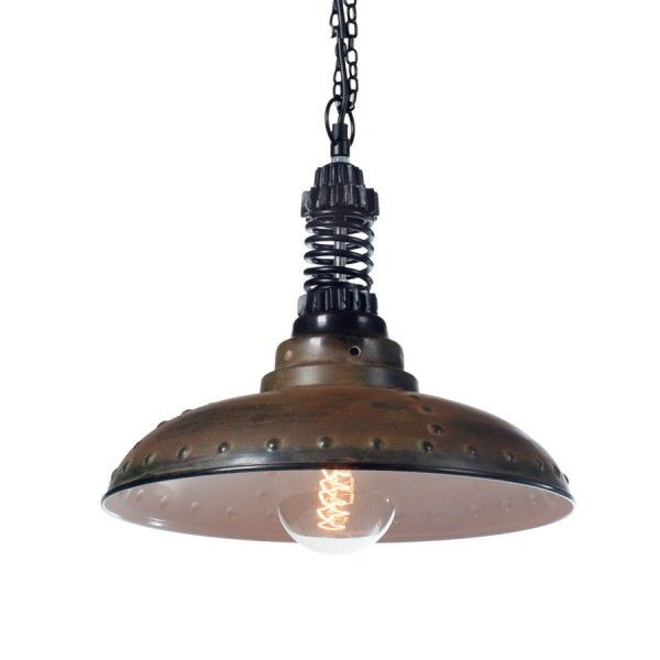 Lampa wisząca Factoria industrialna z dekoracyjnymi nitami/ Hanging industrial lamp with rivets #industrialnalampa #loft