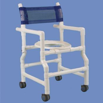 Patterson Medical 081685130 Deluxe Folding Shower Commode Chair