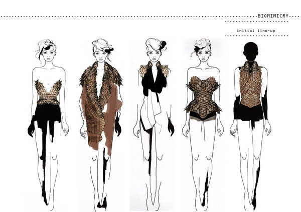 Fashion Portfolio - fashion design, initial collection lineup; fashion illustration; fashion sketchbook // Stefanie Nieuwenhuyse