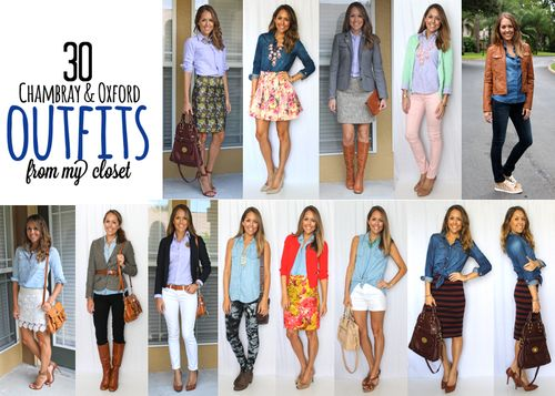 30 Chambray and Oxford Outfit Ideas