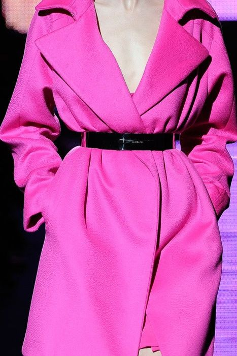 Pink Coat with Metal Belt - Click for More...