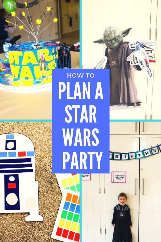 A Star Wars themed 5th Birthday Party. How to plan a perfect birthday party for a Star Wars Fan. Birthday Party Ideas for 5 year olds. Boy's birthday party ideas. Creative Birthday Party Ideas.