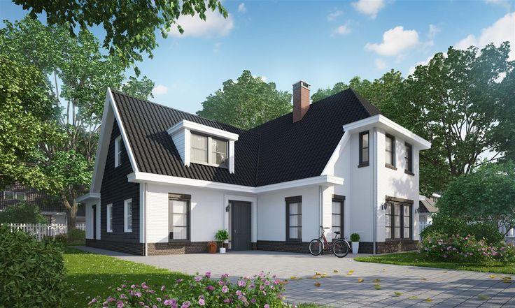 Vrijstaande woning in Nunspeet. De woning kenmerkt zich door het keim werk en de moderne kleuren!