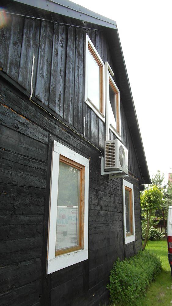 Jednostka zewnętrzna klimatyzatora Lg, montaż w domu jednorodzinnym