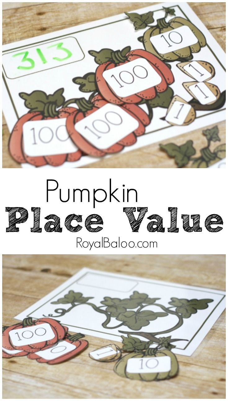 practice place value with this free pumpkin place value set addition subtraction and - Online Halloween Math Games