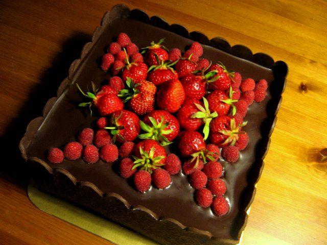 Čokoládová s ovocím