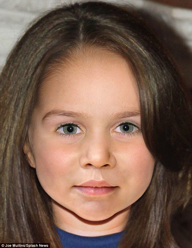 Forensic artist predicts how Kate and William's princess will look #dailymail