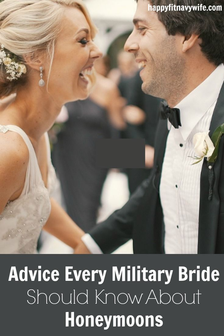"""Advice Every Military Bride Should Know About Honeymoons"" by Heather of Happyfitnavywife.com 