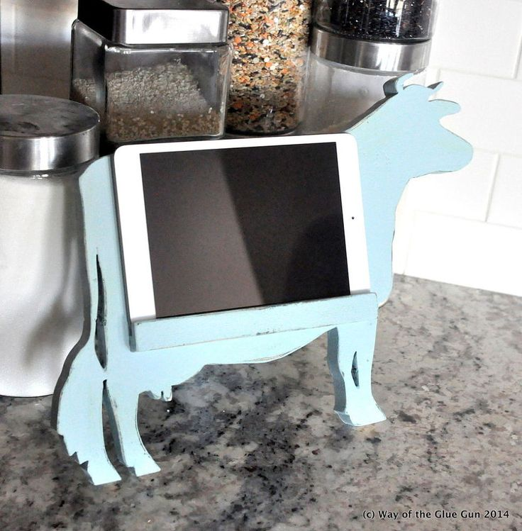Hometalk :: Cow Kitchen Tablet Stand