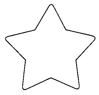 Star Shape Templates and Patterns | Five (5) Point Star Pattern