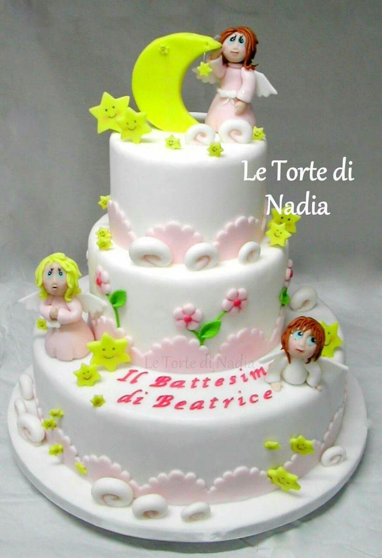 "Torta ""Battesimo""  Info: 389 9355816 anche WhatsApp #tortabattesimo #babyshowercake  #torteartistiche #torte #cakes #tortebambini #tortaangeli"