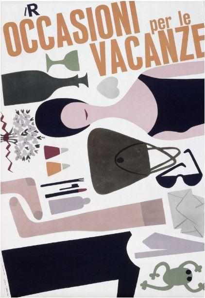 By Lora Lamm (Born 1928), 1959, Occasioni per le vacanze, La Rinascente. (I)
