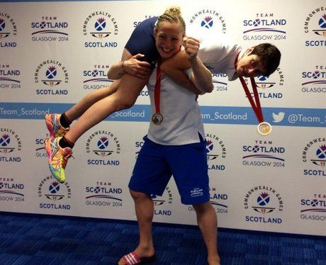 Judo  BRONZE: Sally Conway took bronze in the Women's Under-70kg Judo - and celebrated with gold-medallist team-mate Sarah Clark.