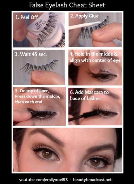 fake eyelash cheat