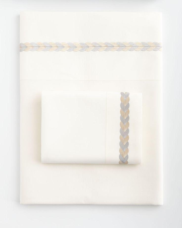 King 200TC Emperor Flat Sheet, Beige-Gray - Neiman Marcus